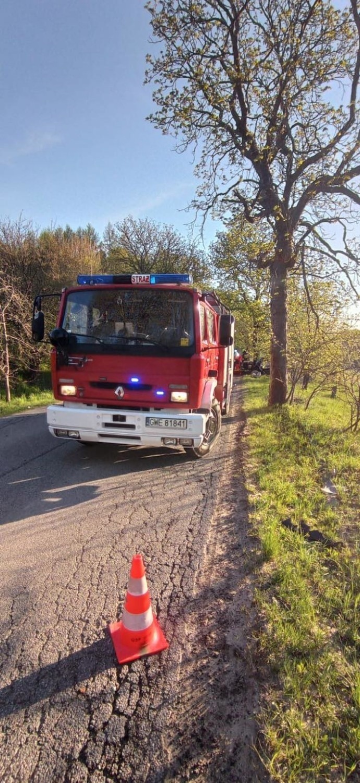 Wypadek pod Wejherowem we wtorek, 11.05.2021 r.! Osobówka...