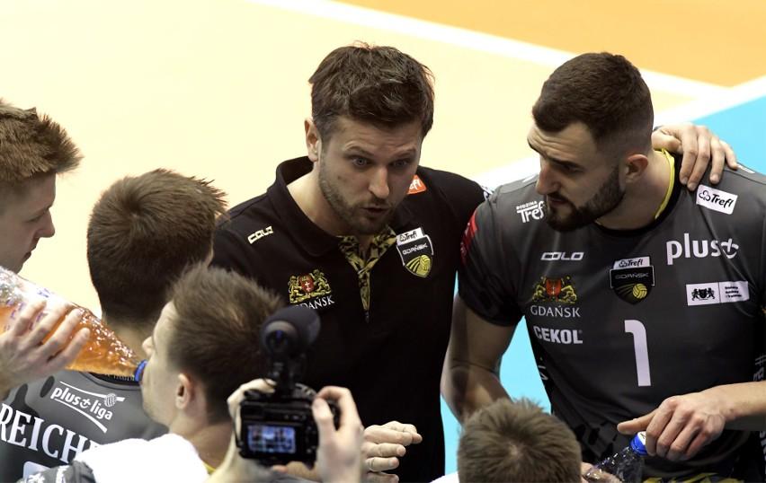 Półfinałowy mecz Pucharu Polski siatkarzy Trefl Gdańsk -...