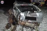 Wypadek w Leśnej Podlaskiej. Na oblodzonej drodze stracił panowanie nad audi. Był pijany (ZDJĘCIA)