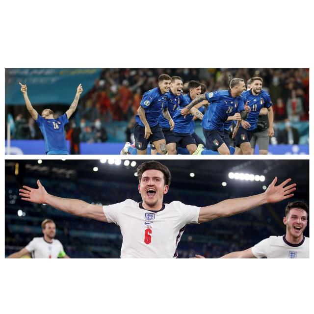 W finale Euro 2020 zagrają Włosi (u góry) i Anglicy