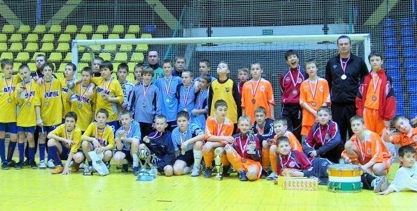 Najlepsze drużyny turnieju (od lewej): Odra Opole, Rodło Opole i Zagłębie Lubin.