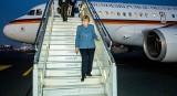 Angela Merkel wylądowała na lotnisku w Pyrzowicach. Przyleciała do Polski by odwiedzić obóz  Auschwitz Birkenau