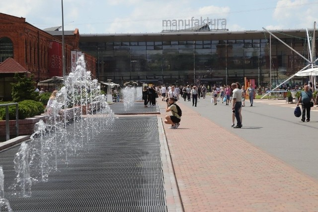Koluszkowska fontanna miała być podobna do tej w łódzkiej Manufakturze.