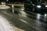 Ślisko na lubuskich drogach. W sobotni poranek w wielu miejscach na jezdni była cienka warstwa lodu. Kierowcy muszą zachować czujność