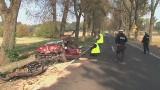 Wypadek w Złotoryi. Zderzenie czołowe. 9 osób rannych (ZDJĘCIA, FILM)