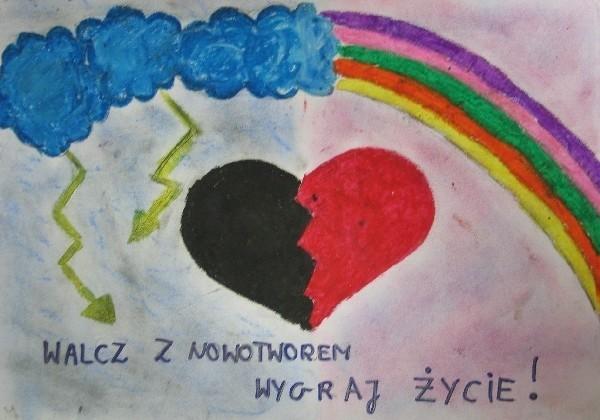 Jedna z prac nadesłanych na konkurs, autorstwa Klary Iwaniszyn z kl. II d Gimnazjum nr 4 w Przemyślu.
