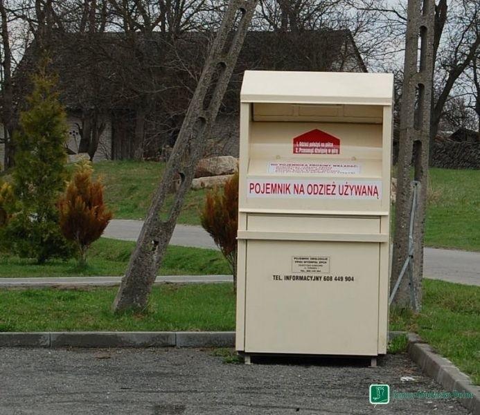 W gminie Grodzisko Dolne rozstawiono kontenery na używaną odzież