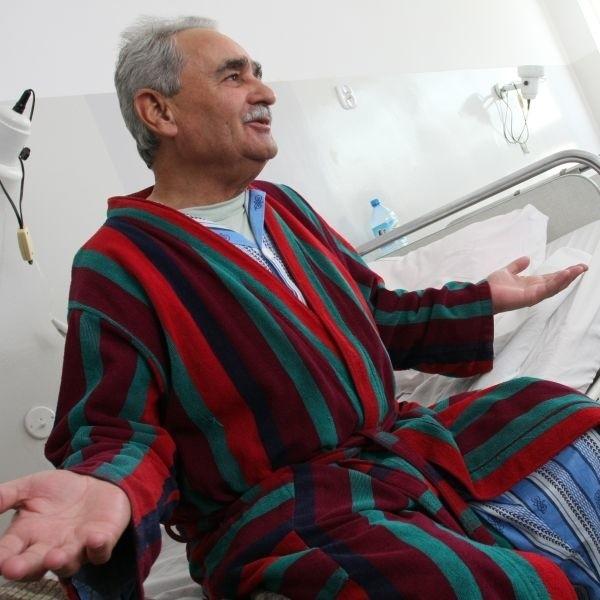 Ostatni raz byłem w tym szpitalu w 1993 roku - wspomina Antoni Zubrzycki, pacjent. - Na moje oko nic się tutaj nie zmieniło. Może lekarze są jedynie młodsi.