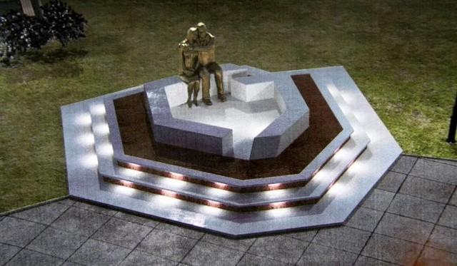 Projekt pomnika opracowany przez radną Małgorzatę Suchanowską