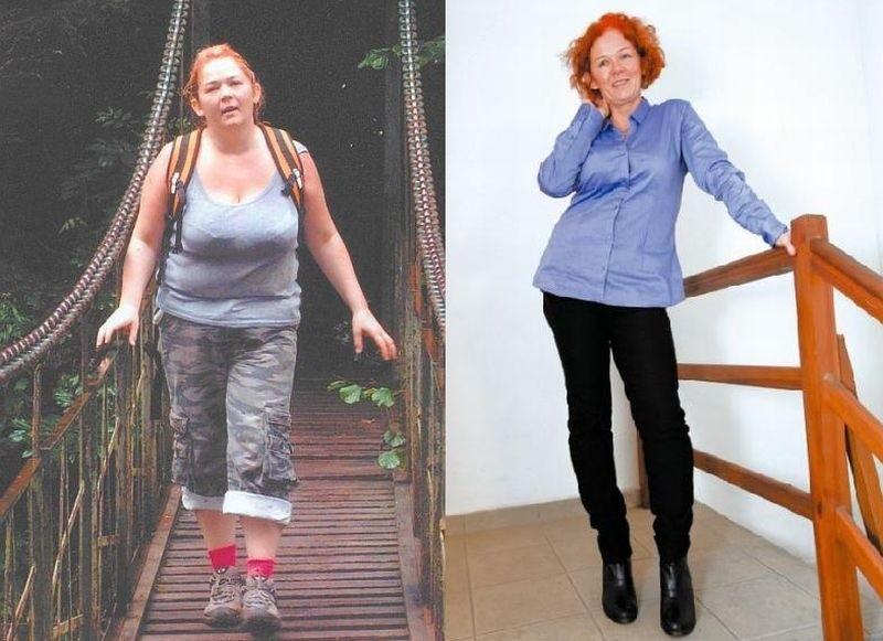 Urlop w górach, lato 2011 roku. Małgorzata waży 92 kg - przy wzroście 166 cm.  Na zdjęciu obok ta sama Małgosia rok później - lżejsza o 20 kg. Chociaż minęło już pięć miesięcy, odkąd zakończył się jej udział w programie odchudzającym, nie ma efektu jo-jo.