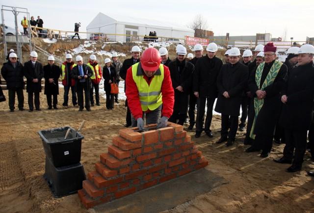 Wmurowanie kamienia węgielnego pod budowę Wikana Biznes Park. Foto: Jacek Świerczyński
