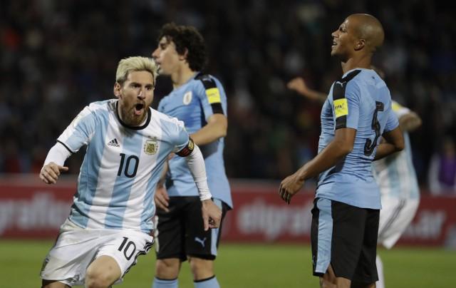 Argentyna - Urugwaj: Gol Leo Messiego