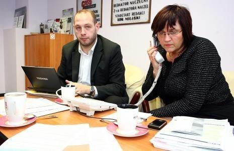 Szczecin: Wypełniamy PIT-y za 2012 r.Inspektorzy Małgorzata Budniak i Rafał Buńkiewicz podczas redakcyjnego dyżuru odpowiadają na pytania podatników.