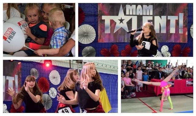 """Aż 37 wykonawców wzięło udział w gminnym konkursie """"Mam talent"""" zorganizowanym w hali sportowej w Rojewie. Uczniowie grali, śpiewali i tańczyli, a publiczność nagradzała ich występy gromkimi brawami."""