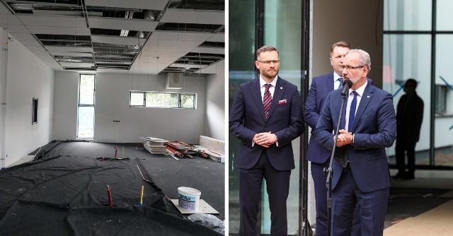 Niedzielski i Czarnek odwiedzili Trzecie Międzywydziałowe Centrum Dydaktyki PUM