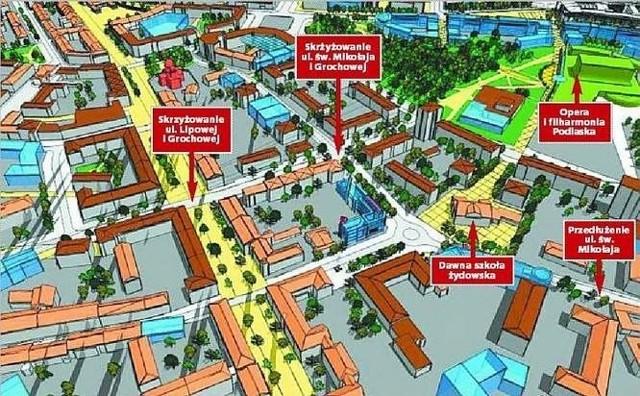 Śródmieście BiałegostokuUrbaniści w centrum planują nowe bloki i supermarket
