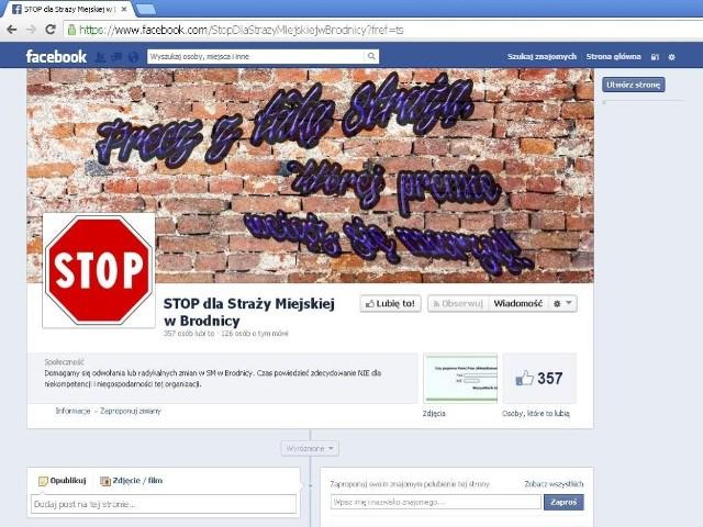 Stop dla straży miejskiej w Brodnicy - pod takim hasłem utworzono profil na portalu społecznościowym Facebook