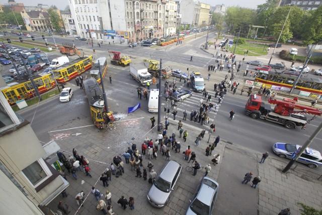 Wypadek wydarzył się w centrum Łodzi
