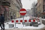 W Chorzowie wstrzymano remont ulicy Powstańców. Drogowcy czekają na poprawę pogody