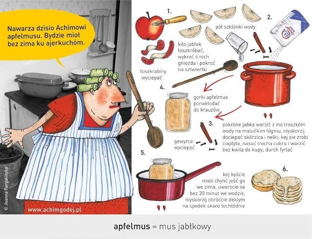 Ślónsko kuchnia dla Hanysów i Goroli - ilustracje Joanny Furgalińskiej