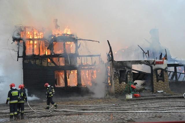 Pożar w restauracji Przystanek Łosoś po Kuchennych rewolucjach Magdy Gessler.