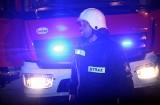 Krynica-Zdrój. Samochód osobowy wypadł z drogi. Na pomoc pospieszyli strażacy