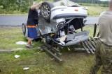 Wypadek w Żelkowie. Kobieta trafiła do szpitala [ZDJĘCIA]
