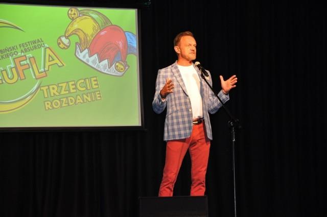 Gwiazdą trzeciej edycji Festiwalu Lekkiego Absurdu SzuFLA był Cezary Pazura