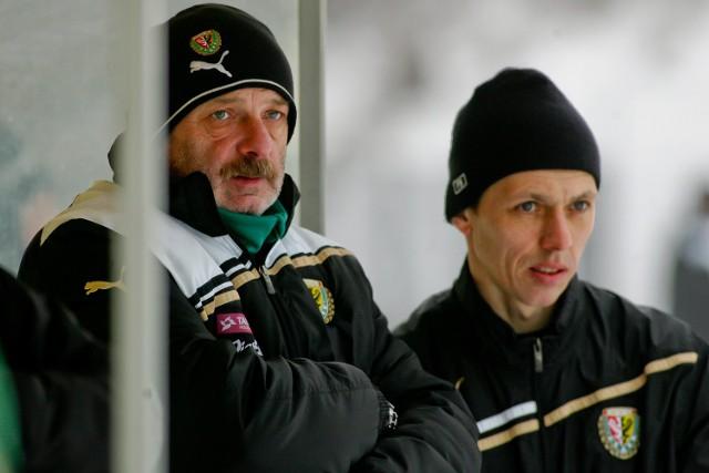 Trenerzy Stanislav Levy i Paweł Barylski.