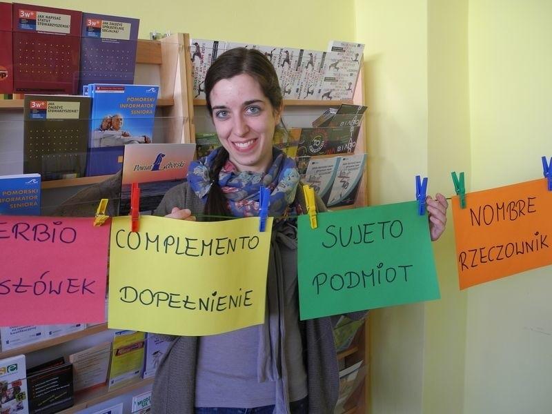 Estibaliz Garcia będzie w Polsce do sierpnia. W tym czasie uczy języka hiszpańskiego.
