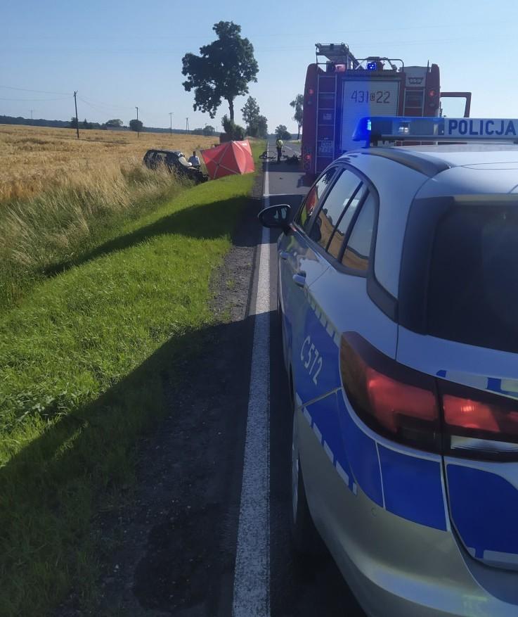 We Pląchotach 6 lipca zderzyły się 2 auta. Zginął 49-letni...