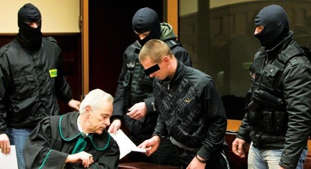 Mirosław T. na posiedzeniu w słupskim sądzie w listopadzie 2011 r.