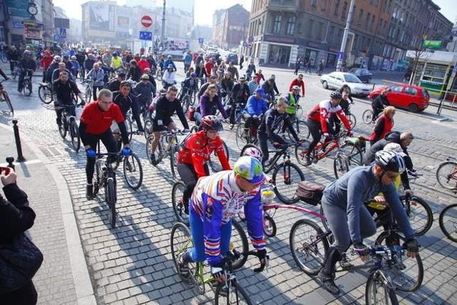 Tak rowerowe powitanie wiosny wyglądało w 2012 roku