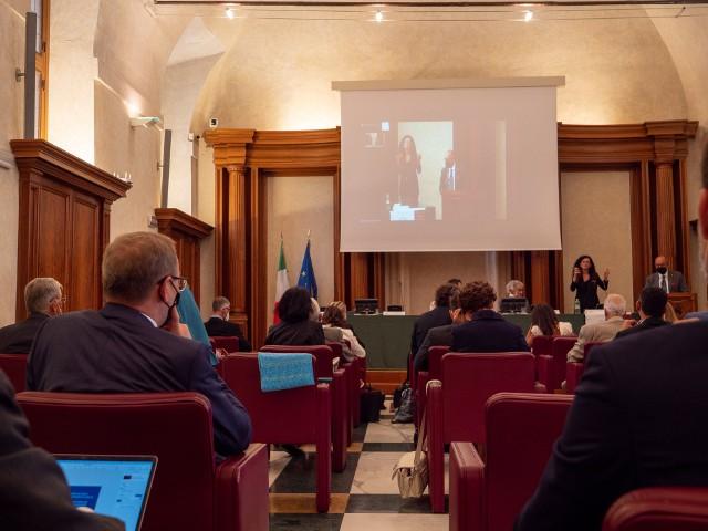 Spotkanie w Senacie Włoch poświęcone sposobom leczenia COVID-19.