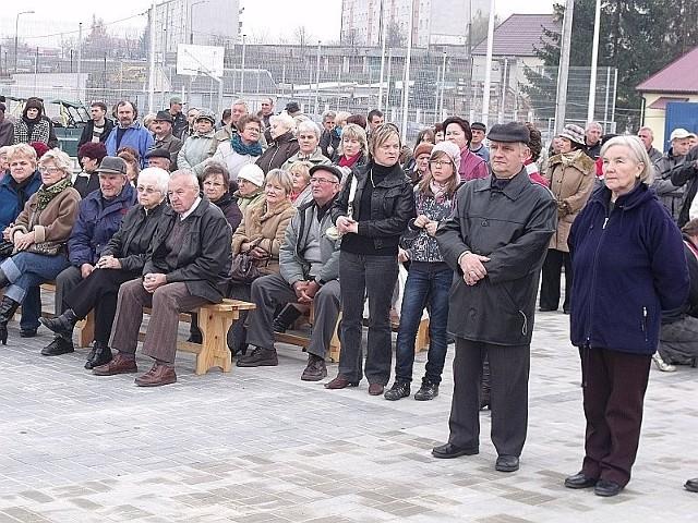 W uroczystości zakończenia inwestycji uczestniczyło wielu mieszkańców gminy.