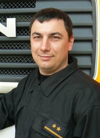 Marcin Mikisz to młodszy kapitan, zastępca dowódcy zmiany w Jednostce Ratowniczo Gaśniczej nr 1 w Gorzowie