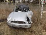 Kobieta dachowała w Myszkowie. Wcześniej straciła prawo jazdy w Zawierciu