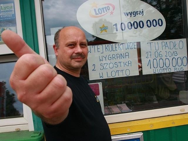 - W mojej kolekturze padły dwie najwyższe wygrane w lotto w naszym mieście. Nie zliczę piątek, czwórek oraz wysokich wygranych w innych grach - zaznacza Andrzej Tokarz, agent kolektury przy ul. 30 Stycznia w Międzyrzeczu.
