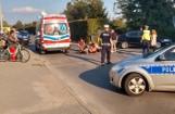 Wypadek w Tarnobrzegu. Rowerzysta potrącony przez samochód został ranny i trafił do szpitala (ZDJĘCIA)