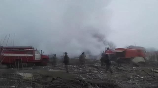 Katastrofa boeinga. Samolot spadł na wieś