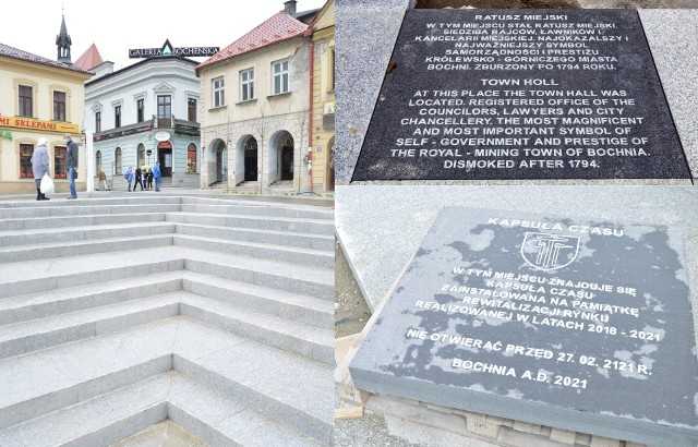 Wpadki rewitalizacji w Bochni, czyli tablica z błędami i krzywe schody