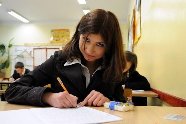 Agata Pasierbowicz z II LO w Gorzowie była zadowolona po napisaniu próbnej matury z języka polskiego