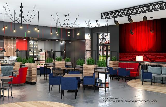 Tak będzie wyglądała kawiarnia kinowa na terenie dawnej Fampry w Kluczborku.