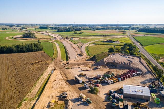 Budowa odcinka S61 Szczuczyn-Ełk Południe. To fragment trasy Via Baltica