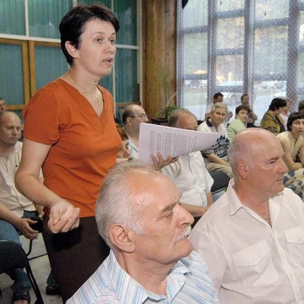 Na zebranie przyszli prawie wszyscy mieszkańcy dzielnicy.