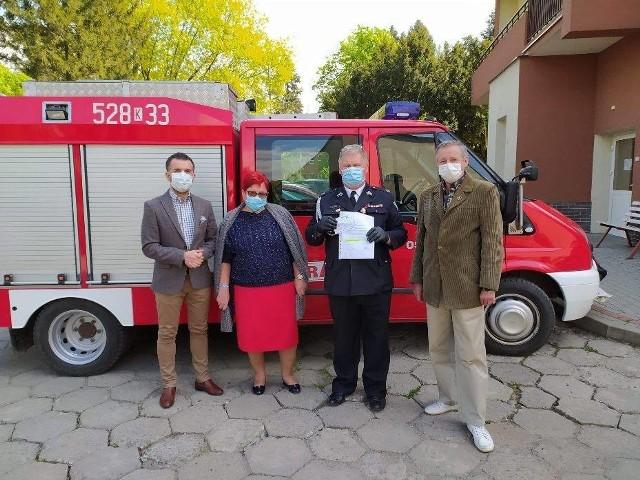 Delegacja z Hebdowa w szpitalu
