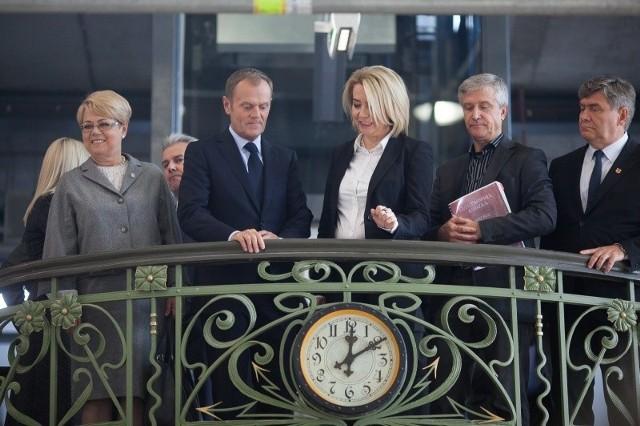 Donald Tusk w Hali Maszyn EC! byłjuż kilka lat temu.