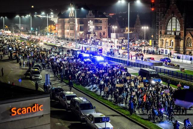 Protest w Gdańsku 26.10.2020