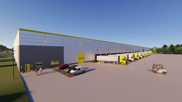 Tak wyglądają centra logistyczne Ericiusa na wizualizacji.