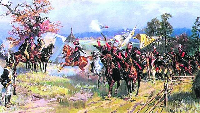 Bitwa pod Zieleńcami, po której ustanowiono Order Virtuti Militari, stała się inspiracją dla Wojciecha Kossaka do namalowania obrazu